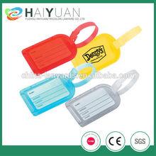 Eco-friendly high quality custom promotional soft luggage tags