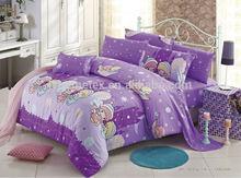 100%cotton kids duvet cover set, romantic children china duvet cover set, kids cartoon bedding set