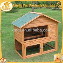 Asphalt Roof Double Decker Rabbit Hutch Pet Cages, Carriers & Houses