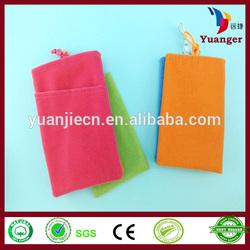 Hand Felt Crocheted Bean Cooler Neck Hanging Carry Sling Mobile Phone Bag