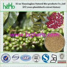 Fornecimento OEM - puro verde cápsula de café / grão de café verde extrato cápsulas Private Label