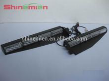 Emergency Warning Strobe Visor Split LED Light Mount Deck Dash Lightbar 32leds