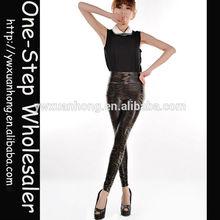 New Arrival Professional Custom Make Fashion women high waist imitation faux leather leather leg guard