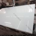 Alta dureza de engenharia pedra de quartzo branco telhas do espelho, super branco mármore artificial usado para a parede exterior do revestimento