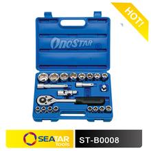 "1/2""DR. 23PCS High Quality Chrome Vanadium Socket Set Combined Tool Kits for Germany Market"