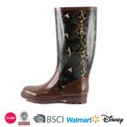 dress long brown woman botas rain Boots