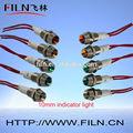 2014 luz indicadora de leviton interruptor de botón de 10 MM de la lámpara