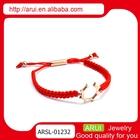 Boho jewelry handmade red braided fabric rope bracelets tmall