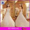 EDW419 A-Line Lace Strapless Floor Length Sleeveless Wedding Dress Manufacturer Bangkok