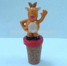 Navidad botella decorativa con cerámica tapón