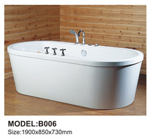 Acrylic portable Jet whirlpool square shaped bathtub for adults on sale