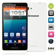 Cheapest 3G Android Mobile Phone 6Inch Dual Sim MTK6582 Quad Core 1.3GHZ 8.0MP+0.3MP OTG GPS WCDMA Dual Sim Lenovo A889