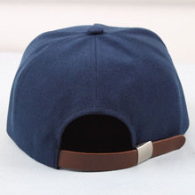 custom made design brown leather strap snapback hats custom
