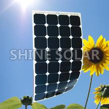 High efficiency sunpower semi flexible solar panel charge for 12v/24v/48v battery