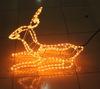 Wire frame 3d motif christmas lights garden decoration led 3d deer motif light