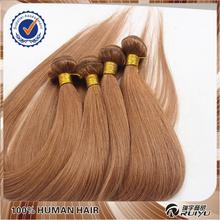 Beauty fashion #8 color light natural brown peruvian virgin hair