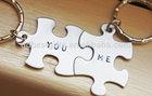 Personalized Puzzle Piece you&me Keychain wedding gifts keychain