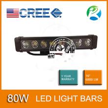 80w cree led de la barra ligera del camino luz de conduccion de 4X4 cars
