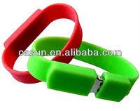 Cheap Silicone usb flash drive bracelets