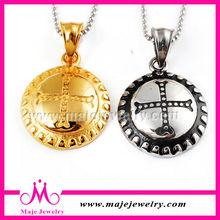 Cheap price couples pendants gold inside plating cross designs