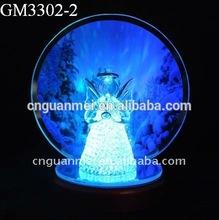 Fashionable Angel Figurine LED Glass Christmas Decoration