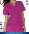 Senhoras elegantes enfermeira do Hospital esfrega uniformes, Slim Fit projeto com adicionais bolso frontal, Bi19022