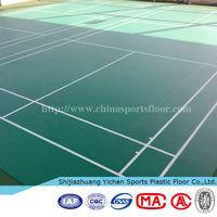 hot sales 4.5mm Sports Flooring Badminton Court Plastic Flooring