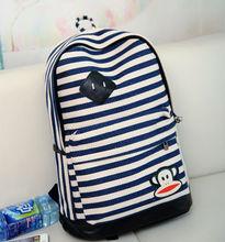 2014 trendy Fashion Stripe bag Day backpack softback bag for girl direct buy china