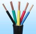 Aislado pvc del alambre ho7v-k( bvr serie), 50mm2 cable aislado de cobre de los precios