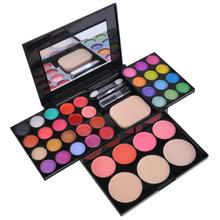 39 Colors Cheap EyeShadow palette Makeup Palette Kit Foundation Powder Blusher Cosmetic Lipstick Tools Set SV000822