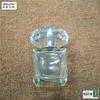 Clear acrylic plastic perfume spray bottle with acrylic cap