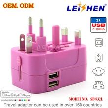 Mobile phone 4 port usb charger EU/AU/US/UK adapter for iPhone