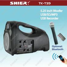5.25 inch outdoor bluetooth wireless stereo super bass loudspeaker TK-T39