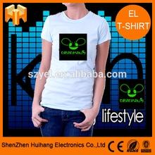 US famous carton Deadmau 5 logo el tshirt / led tshirt sound sensor 2014