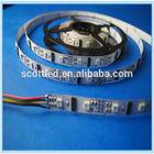 flexible digital lpd8806 rgb led strip 5050 smd;48leds/m;24ic/m;DC5V input;15mm White PCB;Non-waterproof IP20;2leds/cut;CE&ROHS
