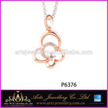 2014 Popular Design Thai Silver Pendant Zircon Jewelry Prices
