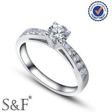 Nuovo anello di pietre preziose, un carato nozze anello di diamanti