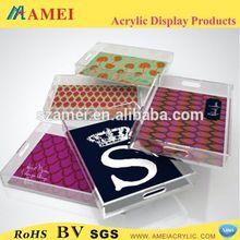 Top quality custom acrylic bathroom amenity tray