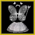 Fabrika satış beyaz renk peri kanat/melek kanat/kelebek kanadı ayarlayın