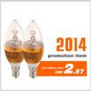 3w LED candle lamp light led bulbs housings wholesale hong kong
