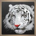ป๊อปที่ทำด้วยมือที่ทันสมัยภาพสัตว์ภาพวาดสีน้ำมันรูปเสือออกแบบ