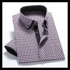 2014 lastest fashion 100% cotton long sleeve plaid silk shirt for men made in China