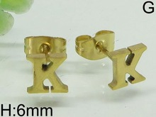 basket ball wives hoop earring gold letter earrings