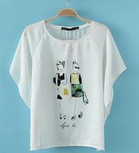 2014 white color t shirt printed white t shirts white women t shirt