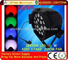 18pcs 10W LED Zoom Par can RGBW party decorations led