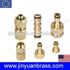 Garden pipe quick brass connector