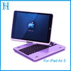Rotatable bluetooth keyboard aluminum case cover for ipad air 5