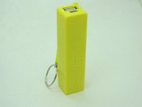 GLE factory price yellow mini perfume 2600mah mobile phone power charger universal power bank for smart phones