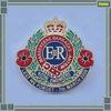 Hot sale royal metal lapel pin crown brass badge for souvenir gift