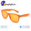 2014 Europe compliance plastic orange sunglasses